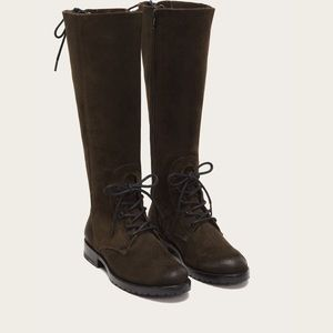 Frye Natalie Combat Tall Suede Boots